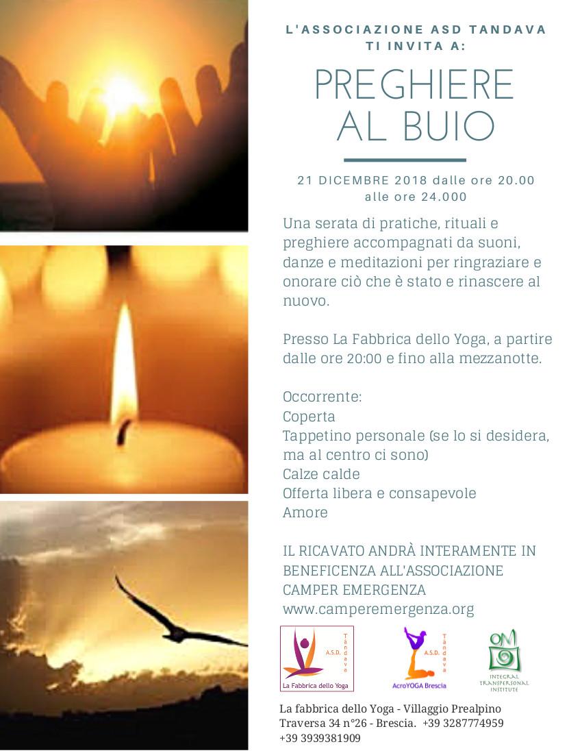 preghiere al buio