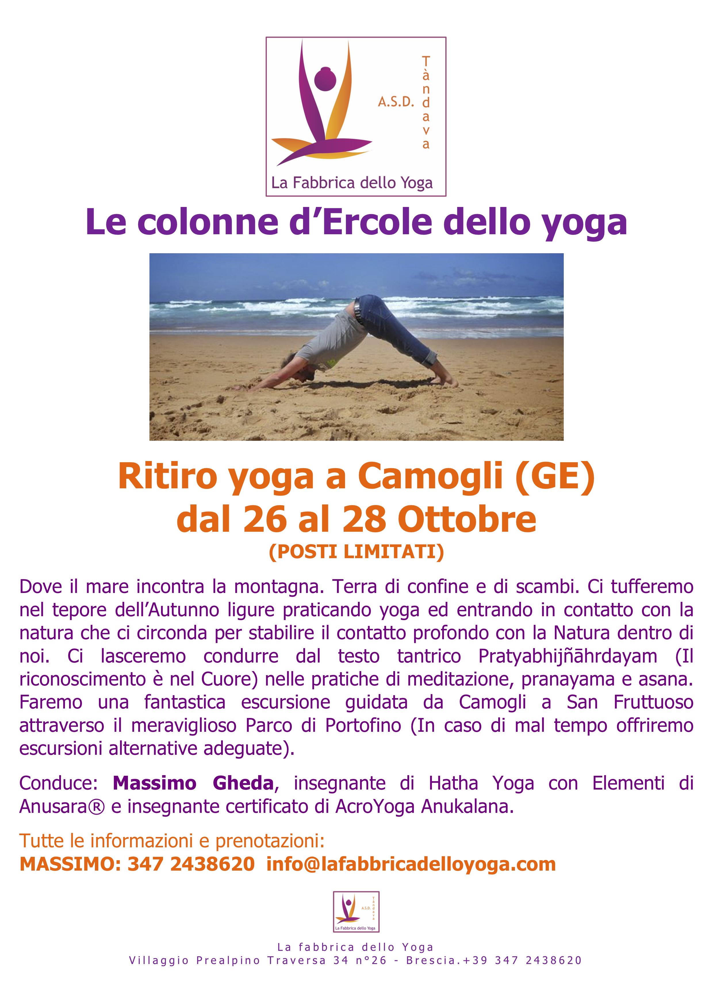 YOGA CAMOGLI - COLONNE D'ERCOLE